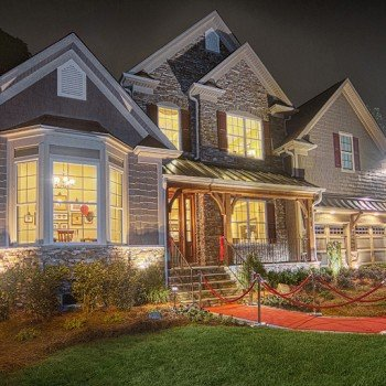 Residential Real Estate - Exterior at Night