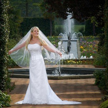 Bridal Portrait at Daniel Stowe Botanical Garden